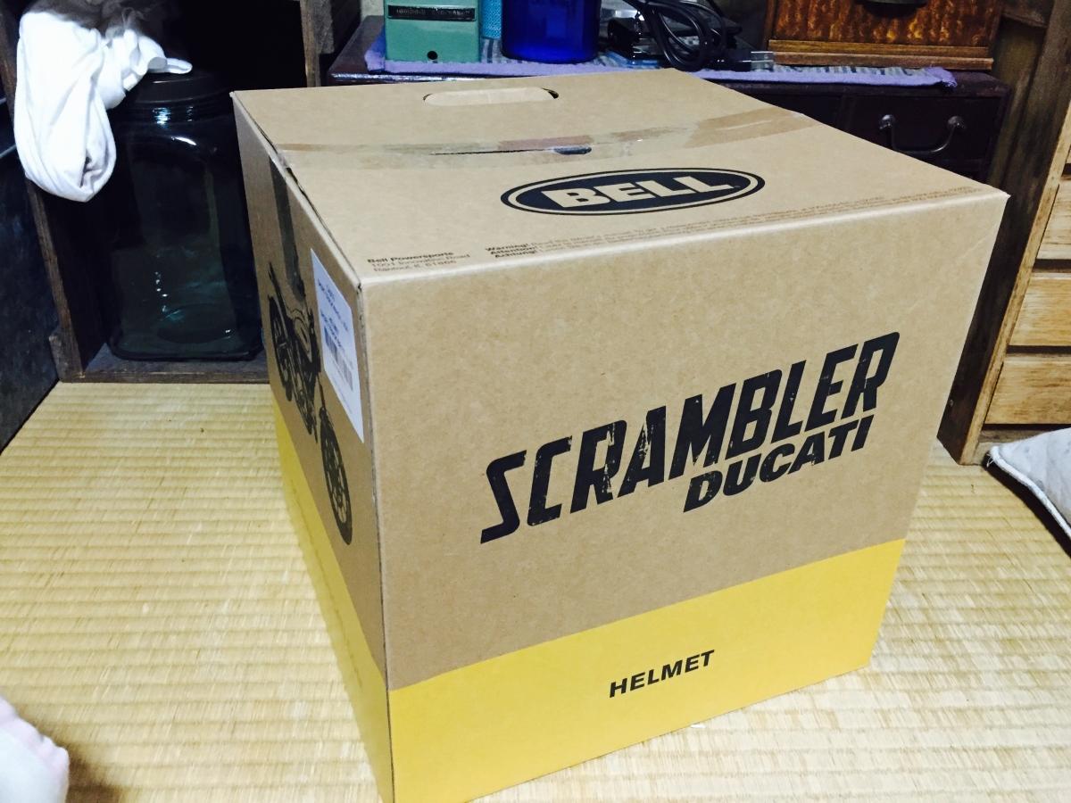 ドゥカティ スクランブラー ヘルメットの箱