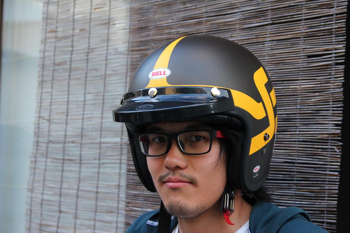 ドゥカティ スクランブラーヘルメット バイザー装着