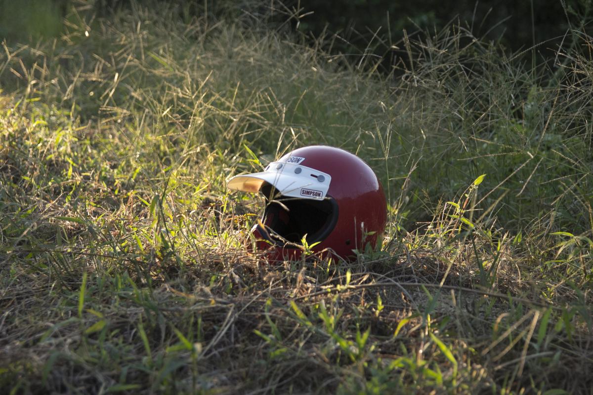 シンプソンのフルフェイスヘルメット