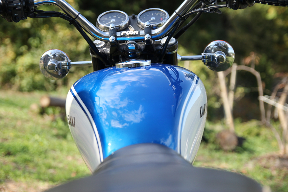 W650 青タンク