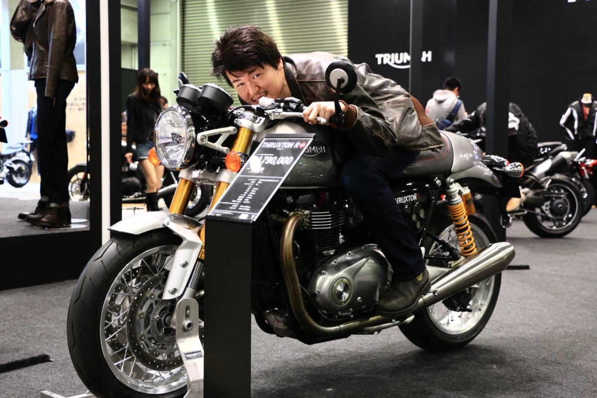 東京モーターサイクルショー!トライアンフブース