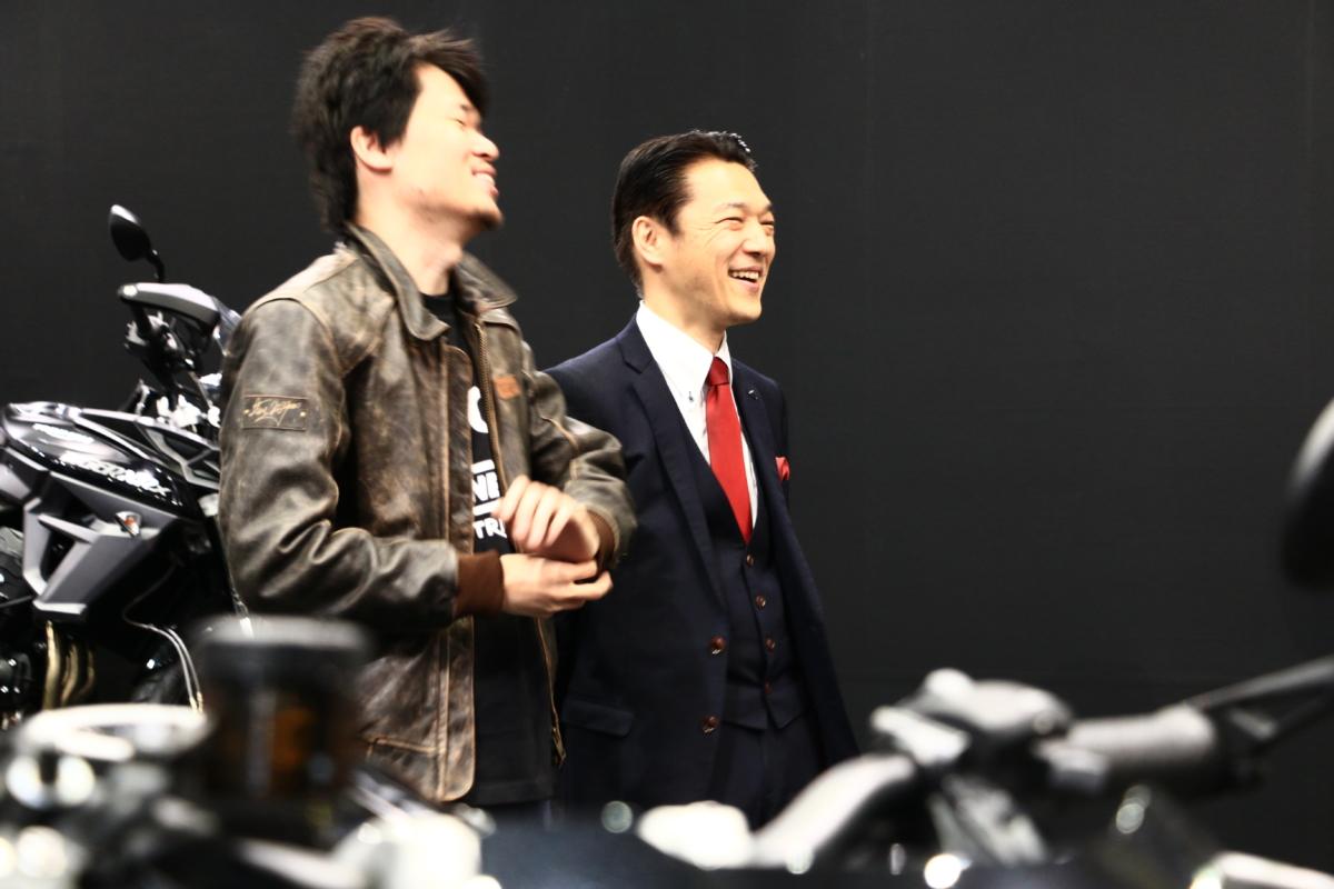 野田社長とバイク話